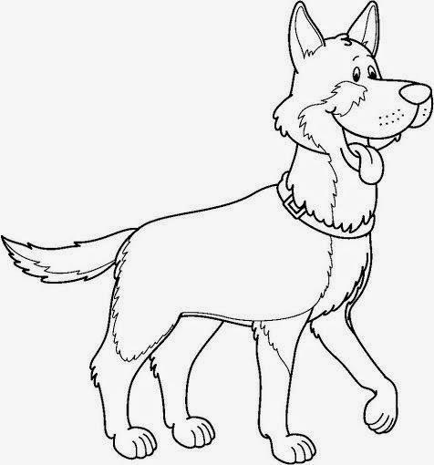 imagenes de dibujos de perros para colorear
