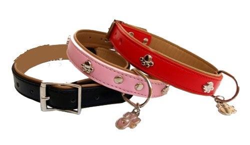 Collar para perro huellas varios colores
