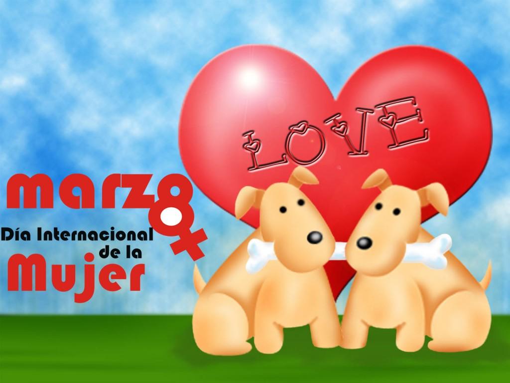 Imagenes de perros feliz dia internacional de la mujer