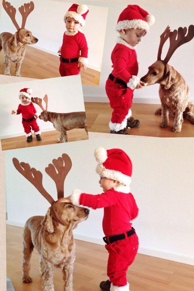 tierna-imagen-navidena-de-un-nino-disfrazado-de-santa-con-su-perro-de-reno