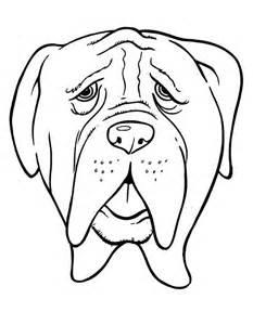 Dibujo de perro para colorear para niños