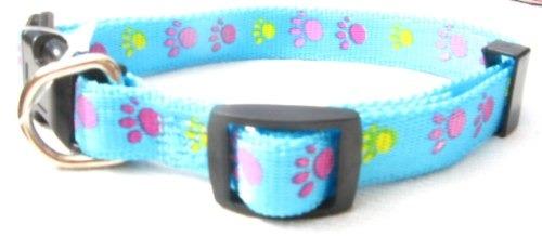 Collares ajustables para perro con huellitas de collares