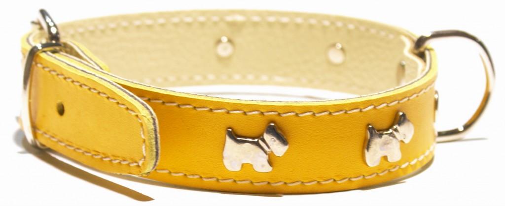Imagen de collar amarillo para perro